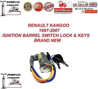 RENAULT KANGOO MK1 1997-2007 IGNITION STARTER  BARREL SWITCH LOCK WITH  2 KEYS