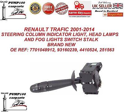 RENAULT TRAFIC 2001-2014 STEERING COLUMN INDICATOR LIGHT SWITCH STALK BRAND NEW