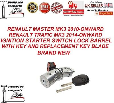 RENAULT MASTER 2010- TRAFIC 2014- IGNITION  STARTER SWITCH LOCK  BARREL WITH KEY