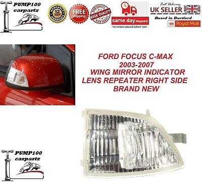 RIGHT FOR FORD FOCUS C-MAX 2003-2007 DOOR MIRROR HEATED GLASSES PAIR LEFT