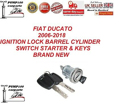 FIAT DUCATO 2006-2018 IGNITION LOCK BARREL CYLINDER SWITCH STARTER WITH KEYS NEW
