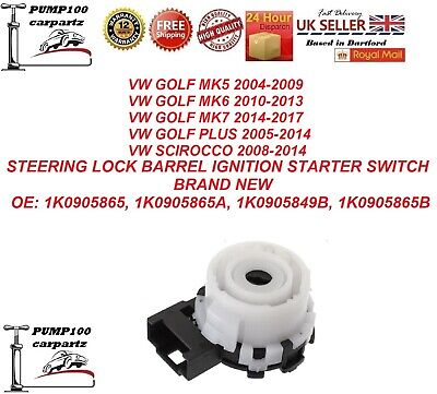 VW GOLF / SCIROCCO STEERING LOCK BARREL IGNITION STARTER SWITCH NEW 1K0905865