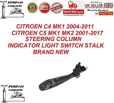 CITROEN C4 2004-2011 C5 2001-2017 STEERING COLUMN INDICATOR LIGHT SWITCH STALK