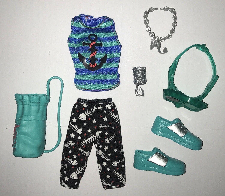 Monster High - Monster High ShriekWrecked Shriek Mates Gil Webber Doll Outfit Clothes Shoes NEW