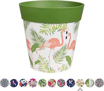 Hum Flowerpots, green flamingo plant pot, outdoor/indoor planter 22cm x 22cm