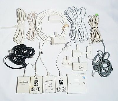 Landline Telephone Replacement Wires Cords Microfilters Split Adapters Joblot