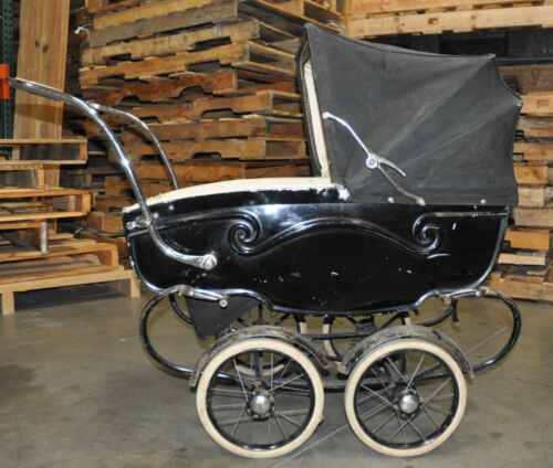vintage stroller pram silver cross baby doll