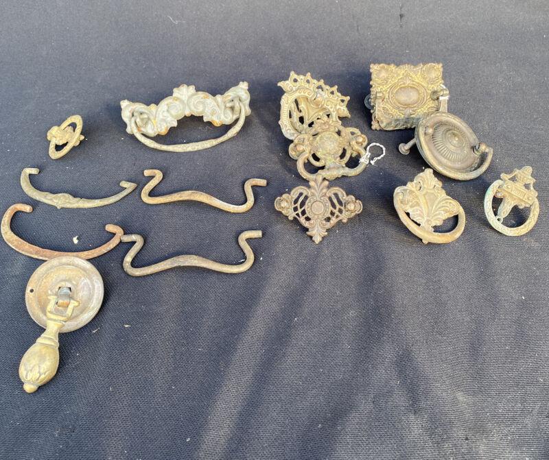 Drawer Handles Pulls Vintage Hanging Bail Metal Brass