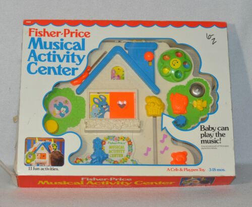Vintage Fisher Price 1100 Musical Activity Center Crib Toy With Box 0819!!!