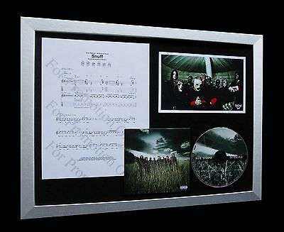 SLIPKNOT Snuff LIMITED Numbered CD FRAMED DISPLAY+EXPRESS GLOBAL SHIPPING!!