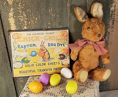 VINTAGE STYLE EASTER BUNNY RABBIT CHICK EGG COLOR ADVERTISING 8 X 10 CANVAS