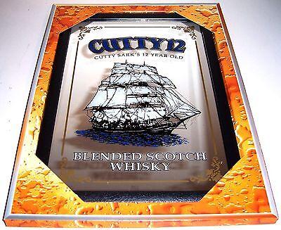 Cutty Sark 12 Year old Whisky Nostalgie Barspiegel Spiegel Bar Mirror 22 x 32 cm