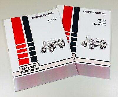 65 Massey Ferguson Diesel Tractor Technical Service Shop Repair Manual Mf65 Mf