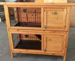 *❤* 2 DRAW PULL OUT TRAYS DOUBLE STORY HUTCH RABBITS GUINEA PIGS Londonderry Penrith Area Preview