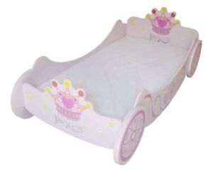 Kiddi Style Childrens Superior Royal Princess Carriage Junior Toddler Bed Girls