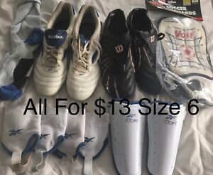 Soccer shoes and equipment