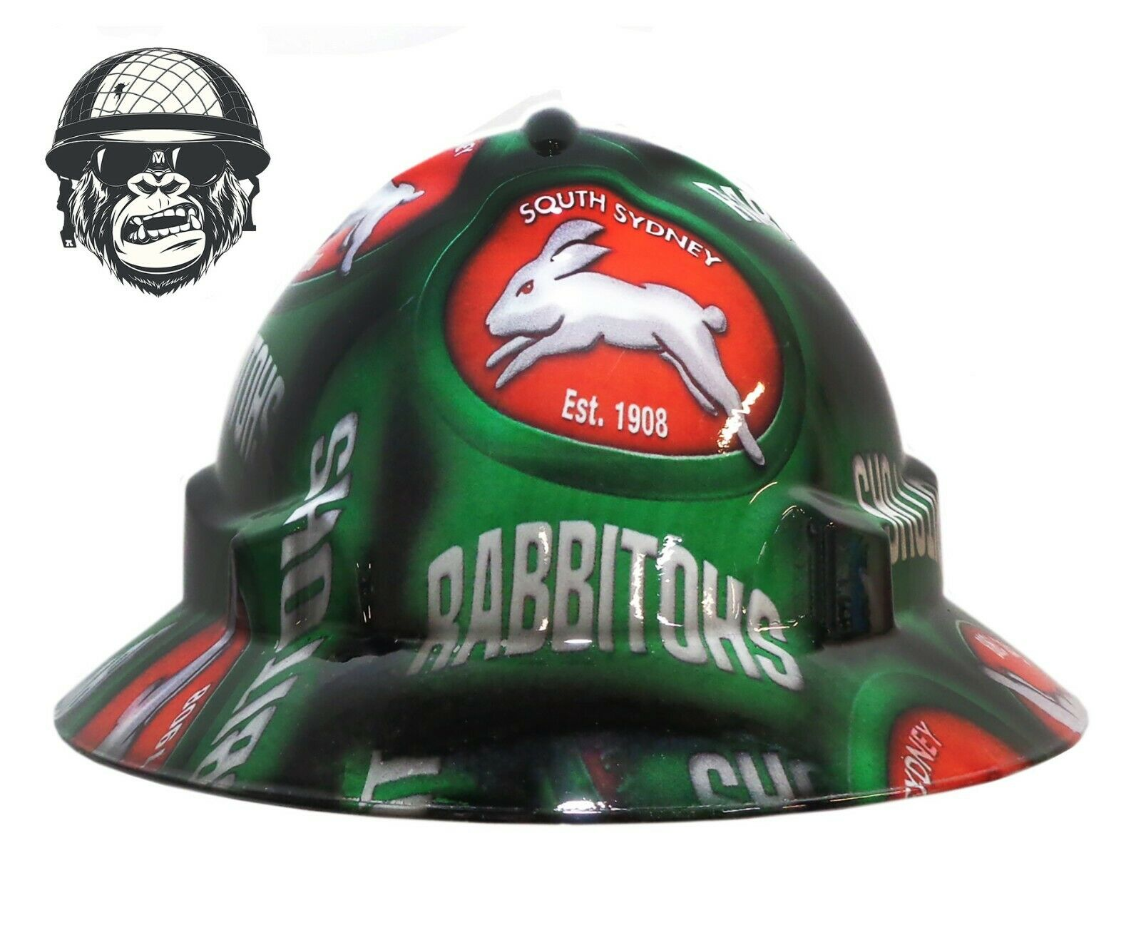 Custom Hydrographic Safety Hard Hat Industrial Mining - RABBITOHS WIDE