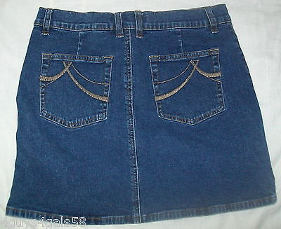JR Womens JEAN Skirt DKNY Blue Denim 7 Mini POCKET FLARE