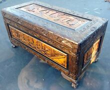 Small carved camphor wood chest Kallangur Pine Rivers Area Preview
