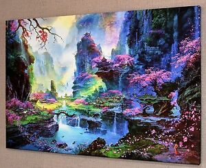 STUNNING  Abstract Japanese Landscape CANVAS PICTURE WALL ART LARGE 20x30