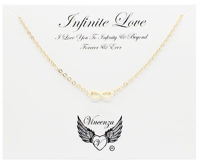 Gold plated Infinite Love Inspirational Message Card Necklace Jewellery Gift