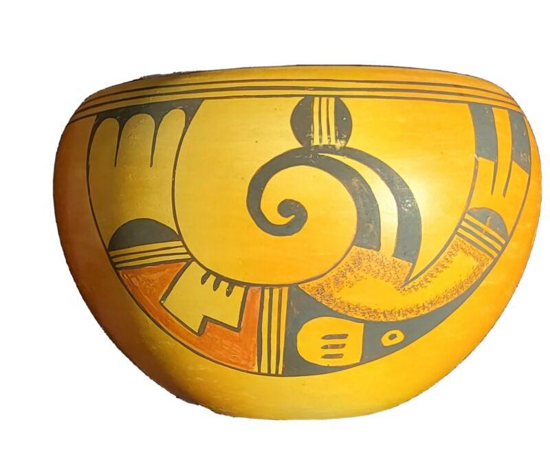 1956 Hopi Tewa 1st Mesa Faye Avatchoya Pottery Bowl
