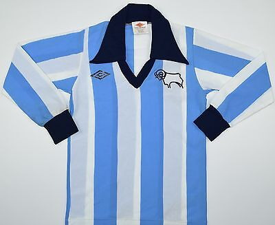 1976-1977 DERBY COUNTY UMBRO AWAY FOOTBALL SHIRT (SIZE B) image