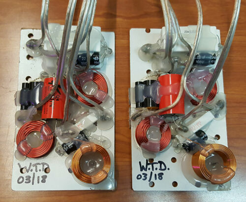 NEW Pair of Two-Way Biamp Speaker Crossovers, Impedance Compensators 2-Way Xover