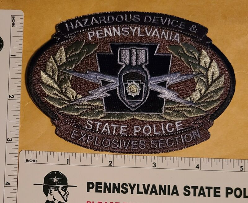 Hazardous Device & Explosives PatchPennsylvania State Police Rare Hard to Find