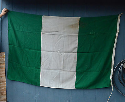 Vintage Signal flag country Nigeria Flag Green White  Nautical Ship Original!