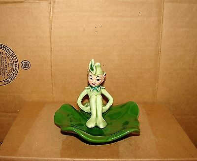 Vintage used Pixie Elf Sitting on a Lily Pad