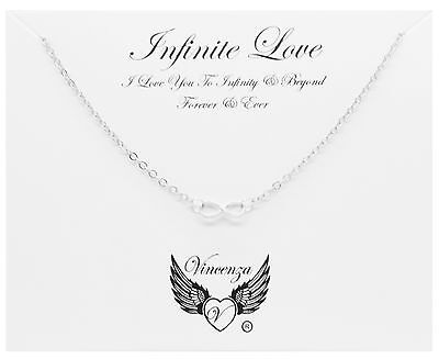 Silver plated Infinite Love Inspirational Message Card Necklace Jewellery Gift