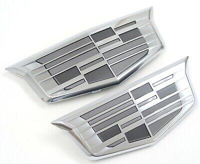 Next Gen Cadillac Escalade OEM Monochrome Emblem Set NEW