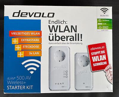 Devolo dLAN 500AV Wireless + Starter Kit 500Mbit/s Ethernet/LAN WiFi Weiß Top