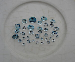 Aquamarine gem mix loose parcel over 10 carats