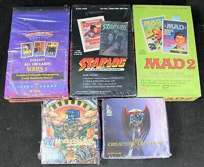 (5) Non-Sports Trading Card Box Lot - Prophet - Starlog - Mad - Creator Universe