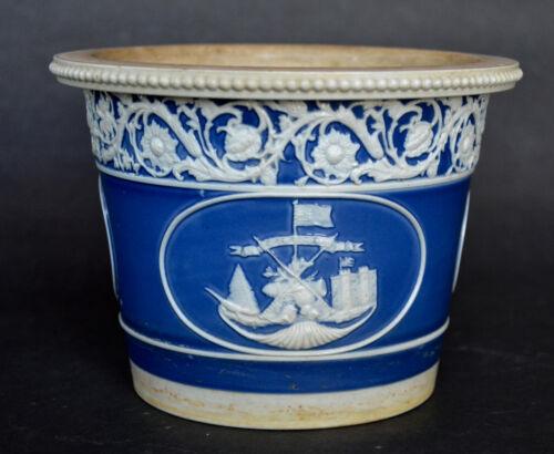 Antique Jasperware British Historical Cache Pot
