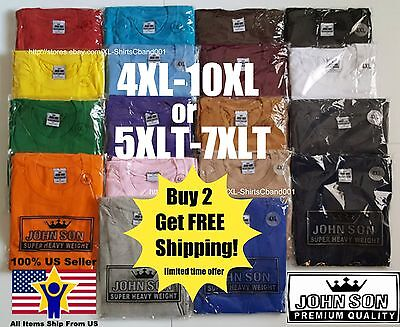 Big And Tall T Shirts 5Xlt 6Xlt 7Xlt John Son Super Heavy Weight