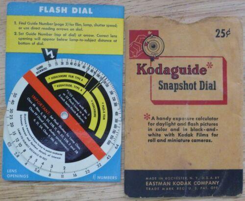 VTG Kodaguide Snapshot Dial EASTMAN KODAK CO Exposure Calculator - Made in USA