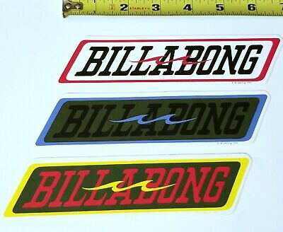 BILLABONG 3 STICKERS VINTAGE 93' SURF SURFER Decal Vinyl Sur