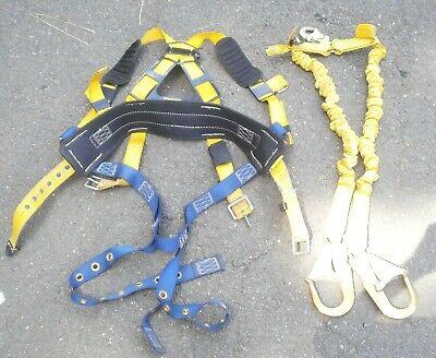 Dbi Sala Construction Body Harness And Sala Shock Wave 2 Lanyard
