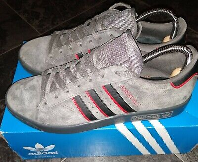 adidas forest hills, grey suede black/red stripes etc, size uk7