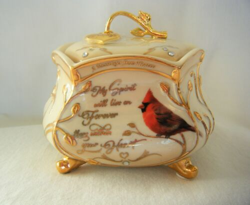 Bradford Exchange Music Box Porcelain A Messenger From Heaven Always In My Heart