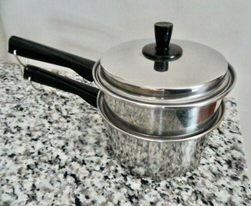 Vintage Vogue  2 Qt Sauce Pan Pot with  Double Boiler Insert