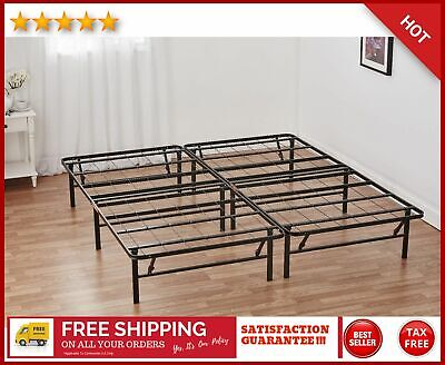 Platform Cal. King Bed Frame 14 Inch Mattress Foundation Heavy Duty Metal Steel