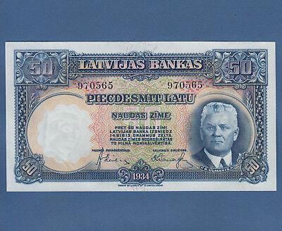 LETTLAND / LATVIA 50 Latu 1934 UNC  P.20