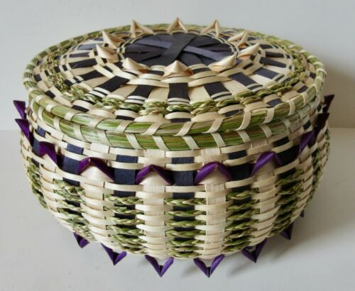 Large Sea Urchin Basket w/point curls!  Pam Outdusis Cunningham: Penobscot