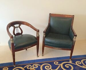 Antique French  Empire Office Chairs circa 1850. Helensvale Gold Coast North Preview