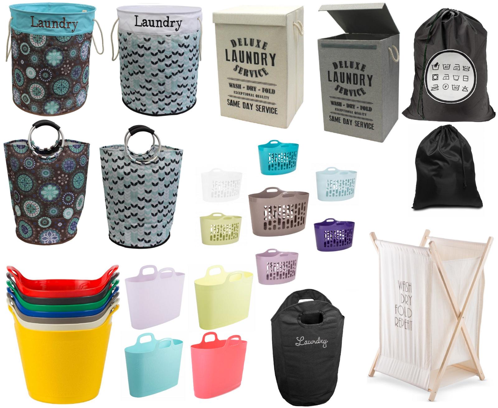 Dirty Laundry Washing Clothes Basket Bin Storage Bag Home Bathroom Hamper Large Ebay