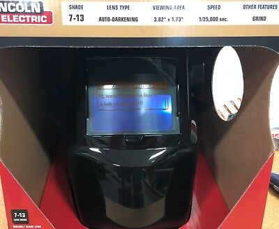 Lincoln Electric K3419-1 Black Glossy 7-13 Variable Shade Welding Helmet Wgrind